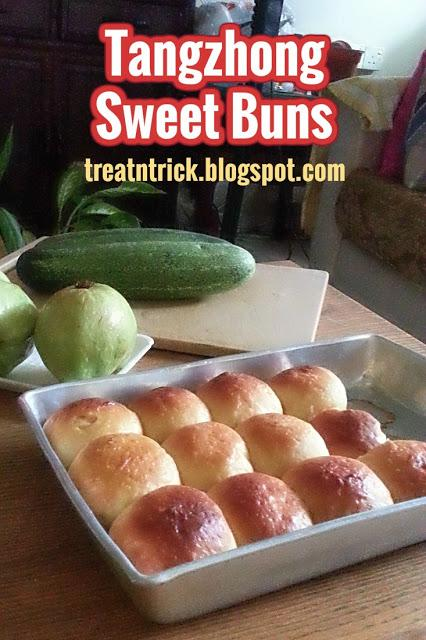 Tangzhong Sweet Buns Recipe @ treatntrick.blogspot.com