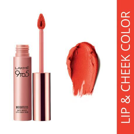 Lakme's First Lip and Cheek Colour - Orange Fluff, Only Rs. 575/-