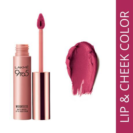 Lakme's First Lip and Cheek Colour - Fuchsia Suede, Only Rs. 575/-