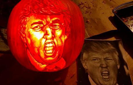 Image result for trump, jack o'lantern