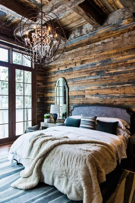 Warm and rustic spaces to inspire you to cozy up for winter