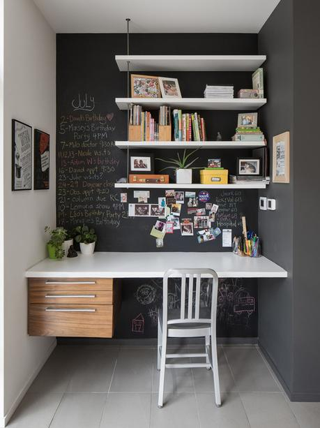 Inspiring home offices in darker hues