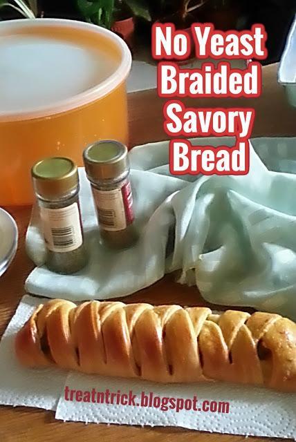 NO YEAST BRAIDED SAVORY BREAD RECIPE