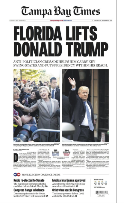 The Trump Victory on the Front Pages