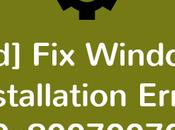 [Solved] Windows Installation Error 0x80070070