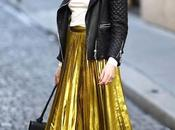 Street Style: Ways Wear Metallic Pleated Maxi Midi Skirts