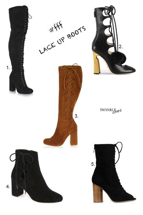 FRIDAYS FAVOURITE FIVE | LACE UP BOOTS