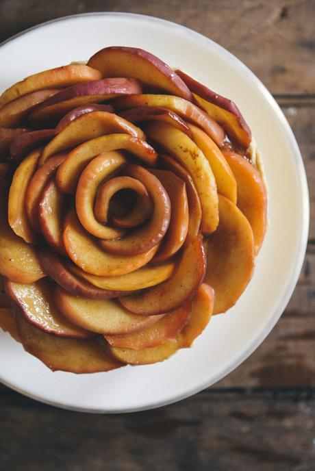 Whole Grain Apple Sage Cake with Caramel Buttercream // www.WithTheGrains.com
