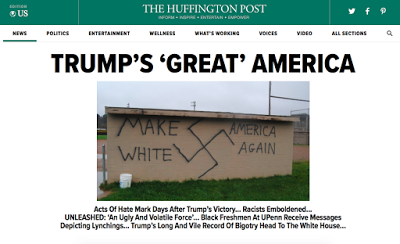 Media Now Begin Noticing Outpouring of Acts of Hate and Violence Against Minorities After Trump Election: