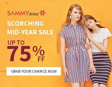Enjoy 75% OFF @sammydress.com