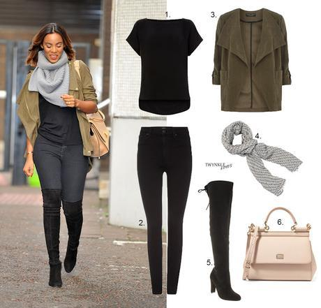 GET THE LOOK   ROCHELLE HUMES CASUAL STYLE