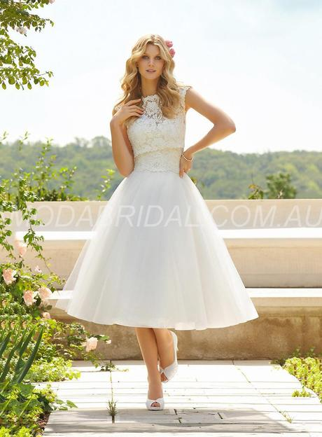 Exquisite knee length lace wedding dress wollongong 11008950