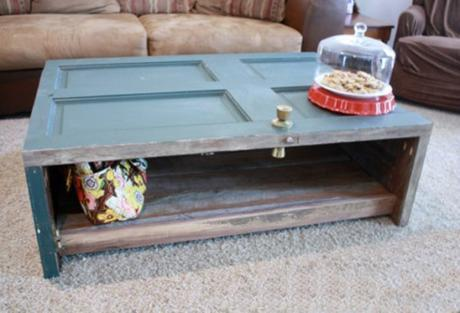 Door Repurposed Into a Coffee Table