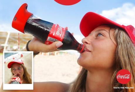 Coca Cola selfie bottles out of Israel