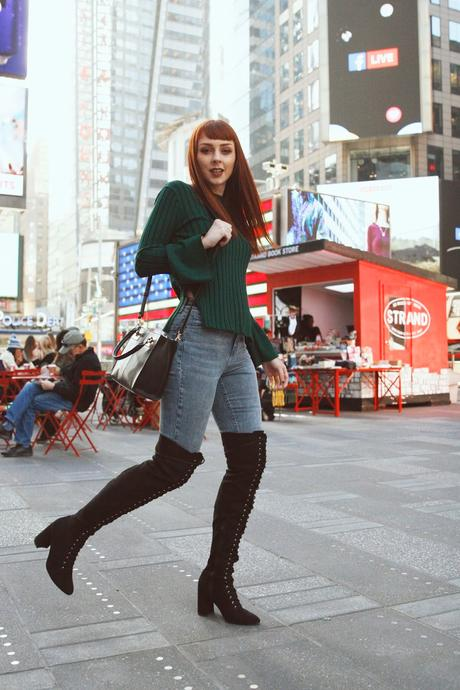 Hangin out at times square with my Stylewe.com sweater