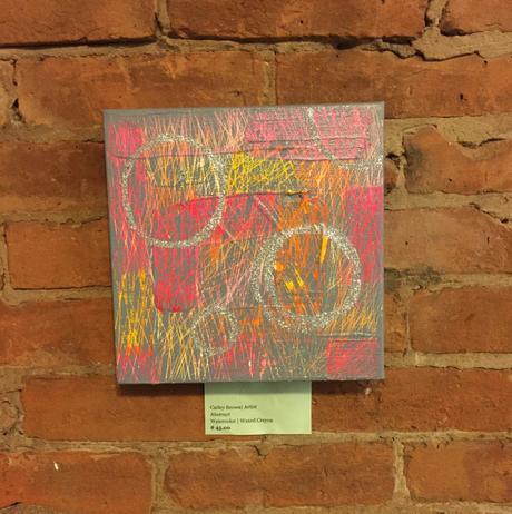 Absract | Waxed Crayon & Watercolor $45