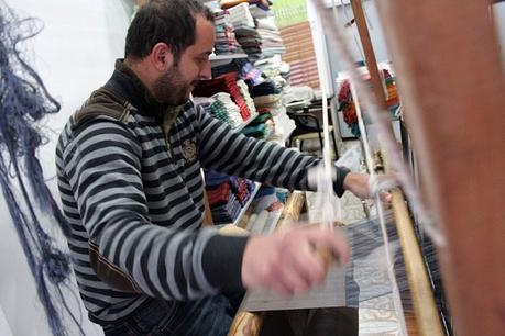 One of the weavers for Marmara Imports; image courtesy of the company
