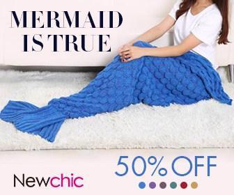 45% OFF Mermaid Tail Blanket