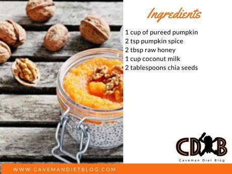 paleo holiday treats pumpkin chia seed pudding ingredient image
