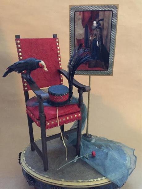 Black Bird Paper Sculpture by Patty Grazini