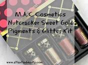 Review Swatches M.A.C Cosmetics Nutcracker Sweet Gold Pigments Glitter