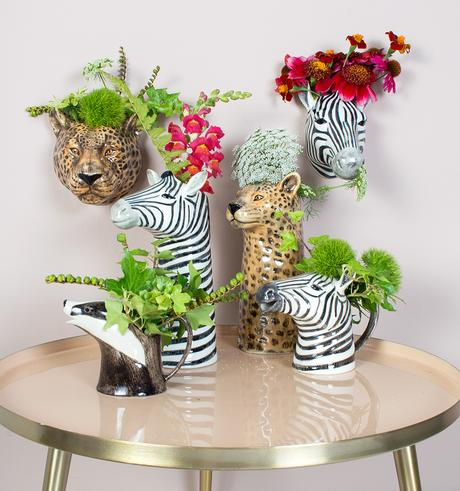 Quirky animal vases