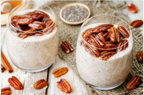 paleo holiday treats eggnog chia seed pudding