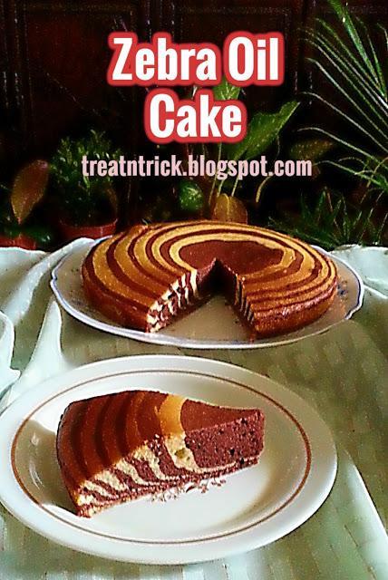 Zebra Oil Cake Recipe @ treatntrick.blogspot.com