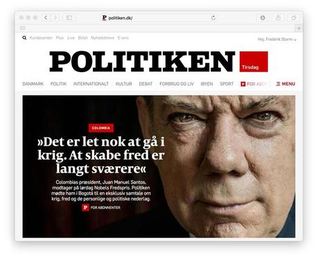 In Denmark: great redesign of mobile, website for Politiken