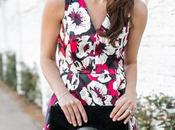 Amaryllis Floral Flare Dress