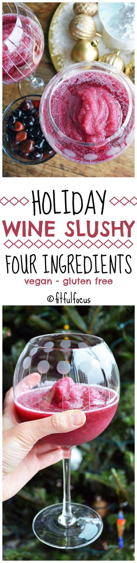 Holiday Wine Slushy (vegan, gluten free)
