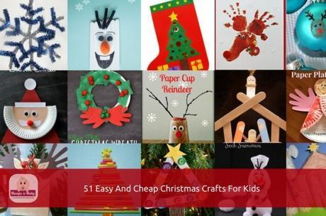 51 easy and cheap diy christmas crafts for kids - Cheap Christmas Crafts