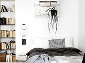 Bright Bedroom with Bookcase