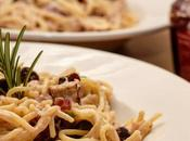 Recipe Festive Creamy Pasta with Cranberries Sprouts