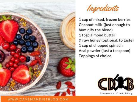 paleo smoothie bowl ingredient image