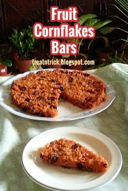 Fruit Cornflakes Bars Recipe @ treatntrick.blogspot.com
