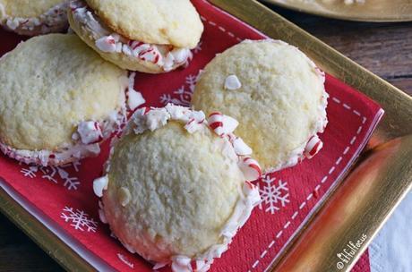 Candy Cane Sugar Cookie Sandwiches (gluten free)