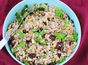 Farro Salad with Cranberries, Walnuts Kale