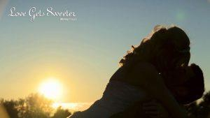 sunset bride and groom Malkins Bank Golf Club wedding Cheshire wedding video