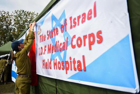 Israeli soldiers establishing a field hospital in Nepal following the earthquake in April 2015. Photo by IDF Spokesperson/FLASH90