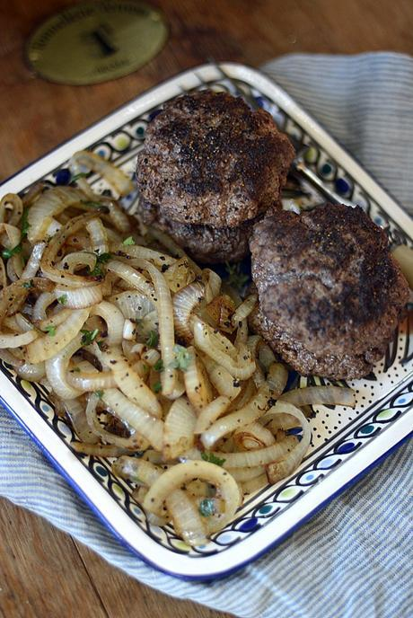 great american diner grilled burger patties & onions