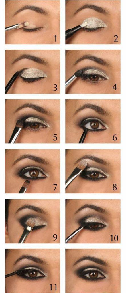 Top Party Eye Makeup Step By Step For Beginners (Via Pinterest)