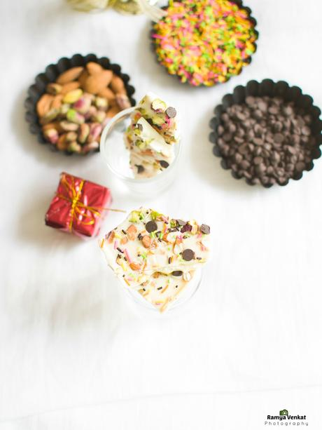white chocolate bark - holiday bark recipe - easy chocolate bark recipes