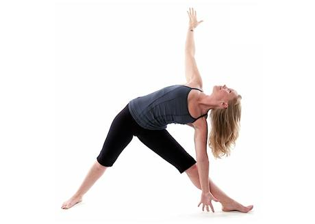 triangle pose for constipation