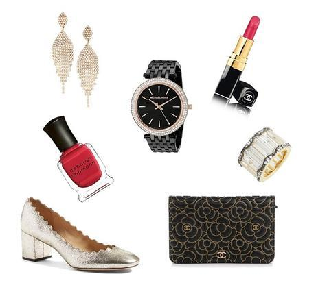 black and gold New Year's Eve accessories