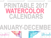 Printable Calendars: Watercolor Themed
