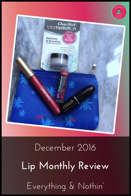 December 2016 Lip Monthly Review
