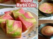 Tricolor Marble Cake Recipe