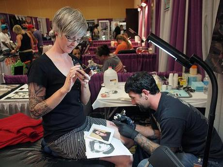 Make the Artist Do the Proper Preprations Getting Tattooed at a Tattoo Convention