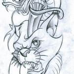 Cute and Funny Cat Tattoo Designs Collection 28 150x150 Cute and Funny Cat Tattoo Designs Collection